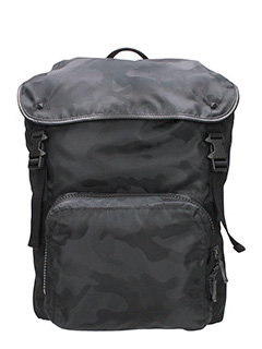 Valentino-black Tech/synthetic backpack