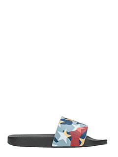 Valentino-Slides in gomma camouflage stelle multicolor