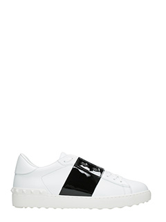 Valentino-Open white leather sneakers