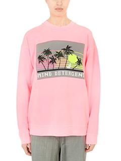 Alexander Wang-Felpa Oversized Sweatshirt in cotone rosa fluo
