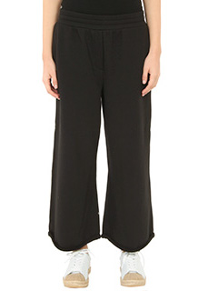 T by Alexander Wang-Pantaloni Soft French Terry in cotone nero