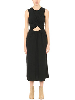 T by Alexander Wang-Vestito Cotton Slee Tee in jersey nero