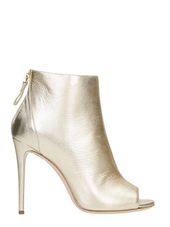 Dei Mille-gold leather ankle boots