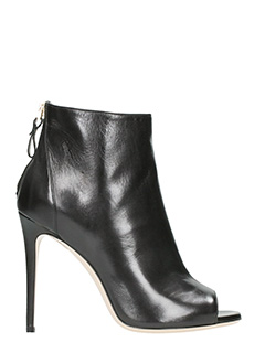 Dei Mille-black leather ankle boots