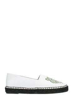 Kenzo-Tiger white fabric espadrilles