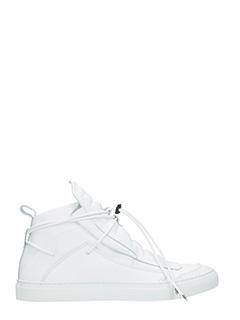 Ylati-Sneakers Ulisse in pelle bianca