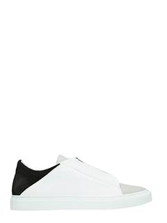 Ylati-Sneakers bassa in pelle bianca