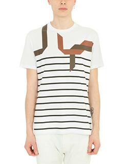 Neil Barrett-T-Shirt in cotone bianco