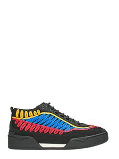 Stella McCartney-Sneakers High Top in tela nera