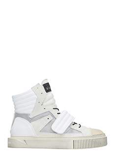 Gienchi-Sneakers Hypnos in tessuto e gomma bianca beige