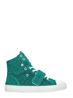 Gienchi-Sneakers Hypnos in tessuto glitter verde