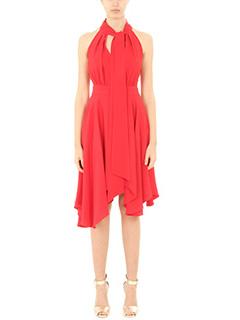 LA MANIA-Vestito Obbi in viscosa rossa