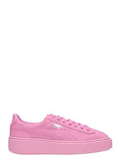 Puma-Sneakers Platform Basket in camoscio rosa