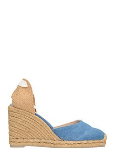 Castaner-Carina  blue denim wedges