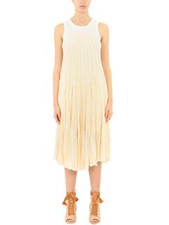 Chloé-Vestito in seta avorio