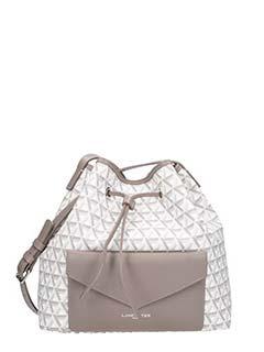 Lancaster-Ikon taupe faux leather bag