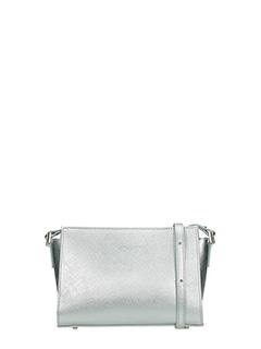 Lancaster-Borsa Adele Small Crossbody in pelle saffiano argento