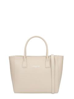 Lancaster-Borsa Shopping Bag Small in pelle saffiano beige
