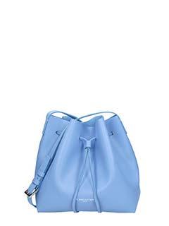 Lancaster-Pur Saffiano blue leather bag