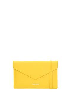 Lancaster-Pochette Element Clutch Air in pelle gialla