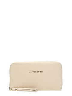 Lancaster-Ana beige leather wallet