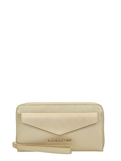 Lancaster-Adeline gold leather wallet