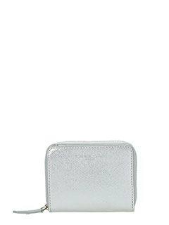 Lancaster-Adele silver leather wallet