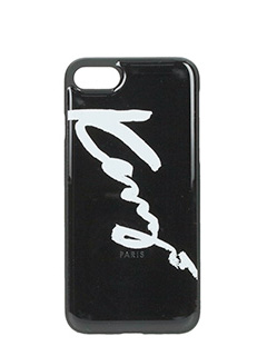 Kenzo-Cover Kenzo Signature IPhone 7 in plastica nera