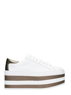 Marc Ellis-Sneakers Make04 platform in pelle bianca