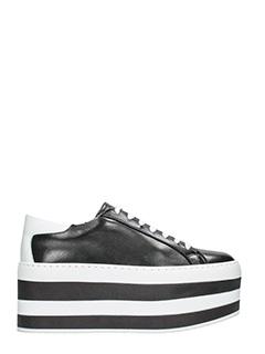 Marc Ellis-Sneakers Make04 platform in pelle nera