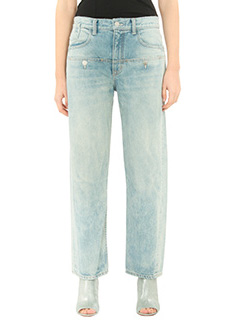 Helmut Lang-Jeans Button Pkt Os Light in denim azzurro