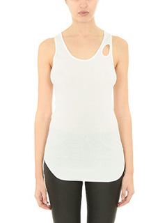Helmut Lang-white cotton topwear