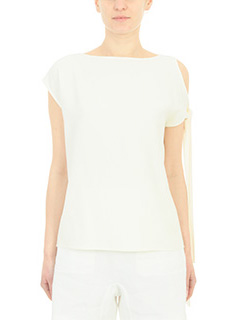 Helmut Lang-Top in cotone beige