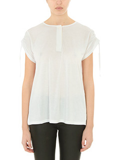 Helmut Lang-T-Shirt Short Slw in cotone bianco