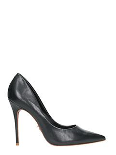 Carrano-black leather pumps