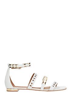 Carrano-Sandali in pelle bianca