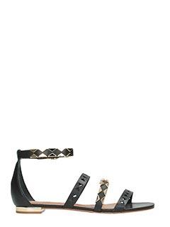 Carrano-Sandali in pelle nera