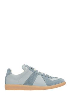 Maison Margiela-Sneaker  basse Replica in pelle e camoscio grigio