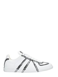 Maison Margiela-Sneaker  basse Replica in pelle bianca argento