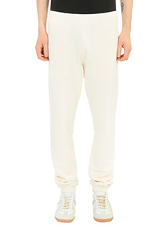 Maison Margiela-Pantaloni in cotone beige