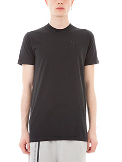 Ring-T-shirt Travor in cotone nero