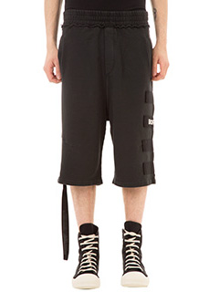 Ring-Shorts Poom in cotone nero