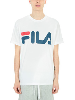 Fila-T-shirt Logo in cotone bianco