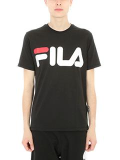 Fila-T-shirt Logo in cotone nero