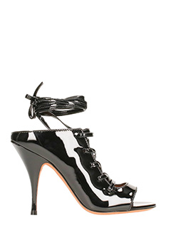 Givenchy-Sandali stringati in vernice nera