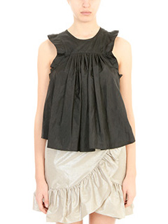 Isabel Marant-Top Axel in taffet� nero