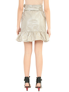 Isabel Marant GONNA LILIKO RUFFLED W IN COTONE PLATINO 4