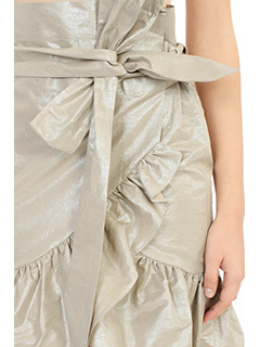 Isabel Marant GONNA LILIKO RUFFLED W IN COTONE PLATINO 2