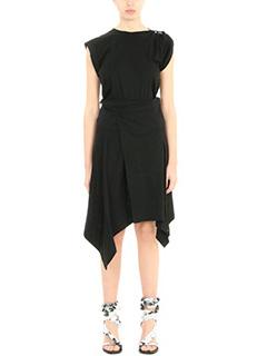 Isabel Marant-Vestito Loko in cotone nero-asimmetrico