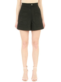 Isabel Marant-Trey black cotton shorts